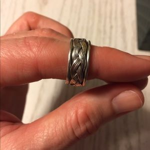Jewelry - Sterling Silver Braided Rope Ring Band Size 6.75